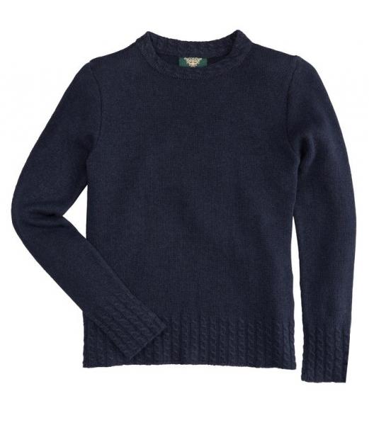 Trachten Pullover Böhen blau Wolle/Kaschmir Hohenstaufen H. Moser
