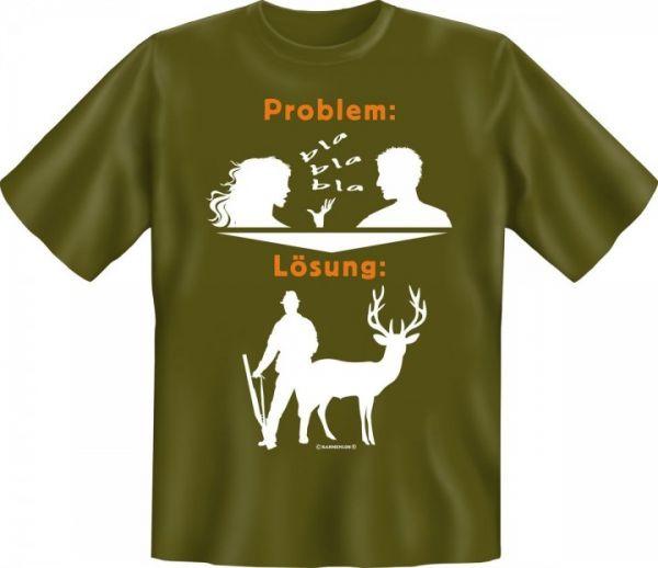 Trachtenshirt Jagdshirt Problem - Lösung grün