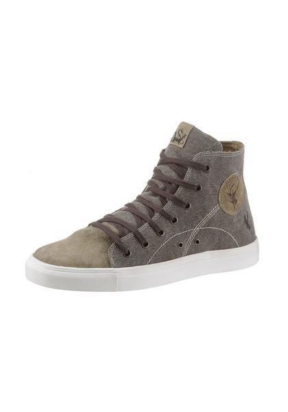 B-Ware /2. Wahl Trachten Sneaker Luis rustik hell oliv braun Canvas Spieth & Wensky