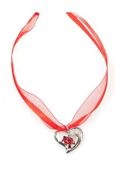 Dirndlkette Trachtenkette Herz rot
