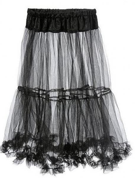 Petticoat 50 cm schwarz
