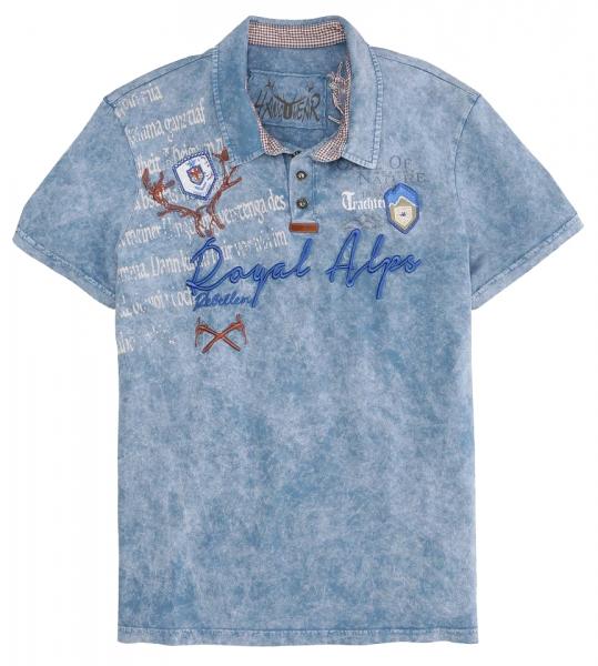 Trachtenshirt Dirk blau oilwashed Hangowear
