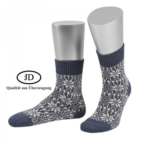 Norwegersocken Socken Marksteft jeansblau weiß JD