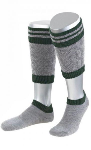 Loferl Wadenwärmer Socken Set grau/grün Lusana