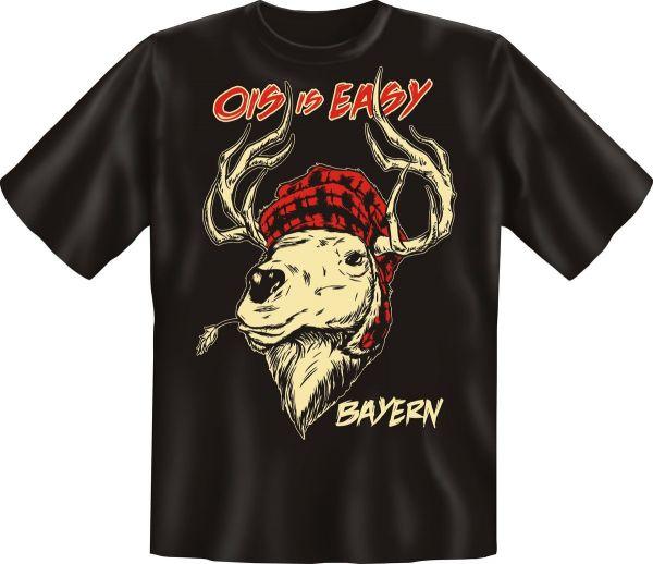 Trachtenshirt Ois is easy - Bayern schwarz T-Shirt