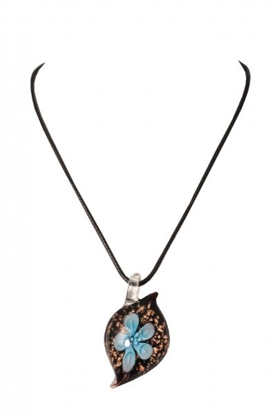 Dirndlkette Trachtenkette Trogen tropfenförmig Kunstglas türkis