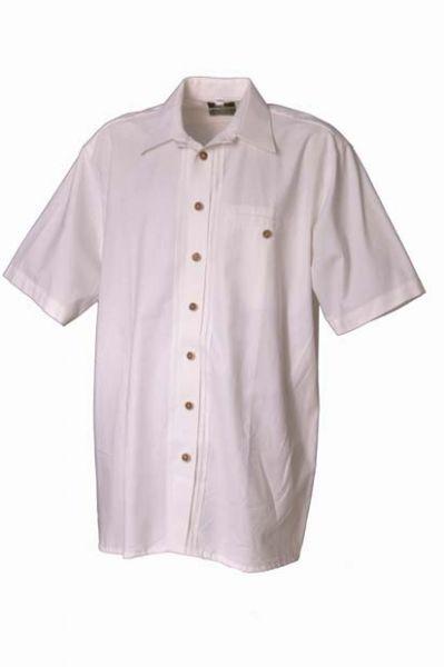 Trachtenhemd Henry weiß Kurzarm Biesen OS-Trachten