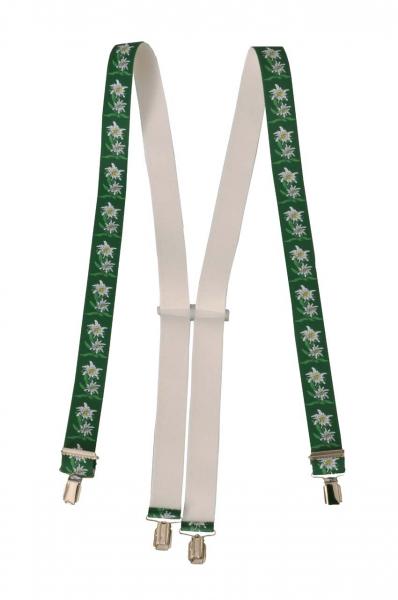 Trachtenhosenträger Hosenträger Trachten grün Edelweiss