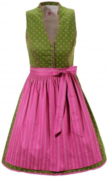 Dirndl hochgeschlossen mini 53 cm Unterdietfurt grün pink Spieth & Wensky