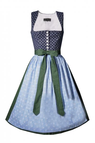 Dirndl midi 70 cm Stegmühle dunkelblau blau grün Berwin & Wolff