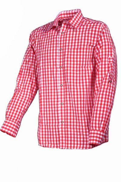 Trachtenhemd Altötting rot Krempelarm Fuchs