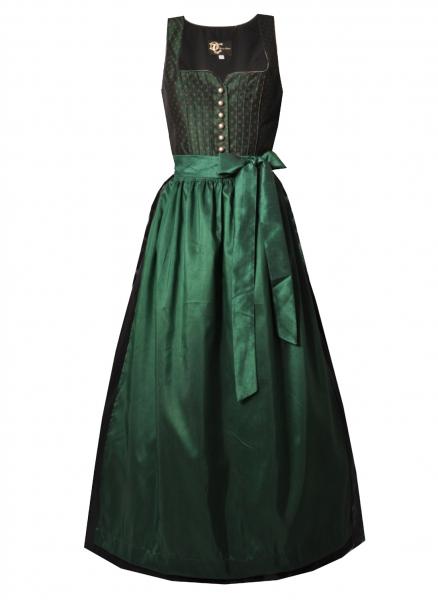 Dirndl lang 95 cm Designerdirndl Marika grün schwarz Trachten Deiser
