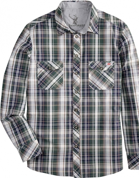 Trachtenhemd Feierlaune grün Langarm Slim Fit Spieth & Wensky