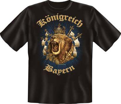 Trachtenshirt Königreich Bayern Löwe schwarz T-Shirt